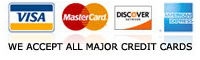 all major credit cards accepted for auto repair